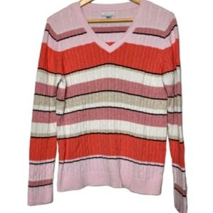 Croft & Barrow sweater v-neck ribbed knit EUC M